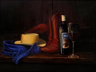 Wine & Boots - Print