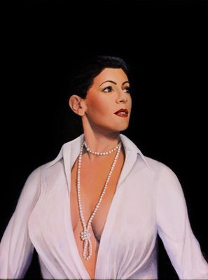 Lady with Pearls - Print