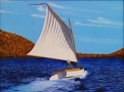 Sailing on Lake - Print