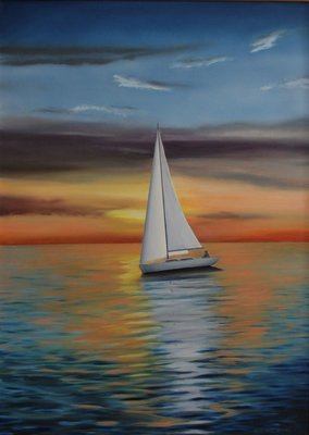 Sailing at Sunset - Print