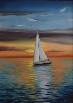 Sailing at Sunset - Print