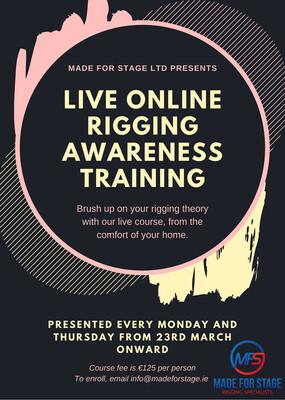 Live Online Rigging Awareness Training