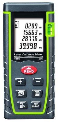ARAS Laser Distance Meter 40m, Portable Handle Digital Measure Tool Range Finder with Bubble Level and Large Backlit LCD 4 Line Display(40m/131ft)