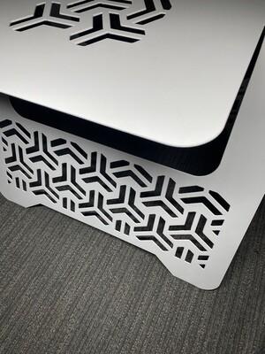 Metal End Table Tri-Pattern