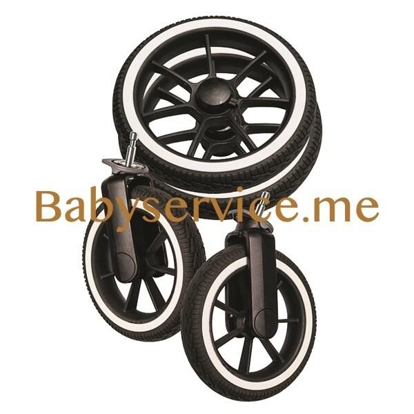 Комплект колес Emmaljunga NXT 90 ecco белая полоса