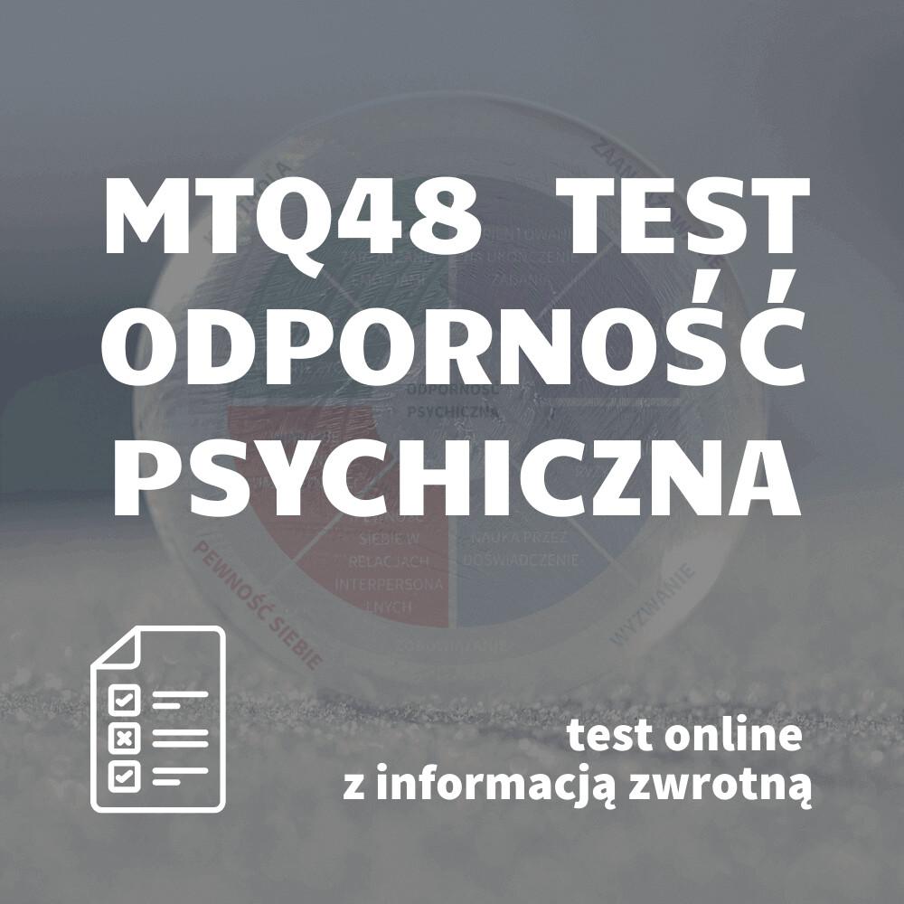 Badanie kwestionariuszem MTQ48 z informacją zwrotną – usługa elektroniczna