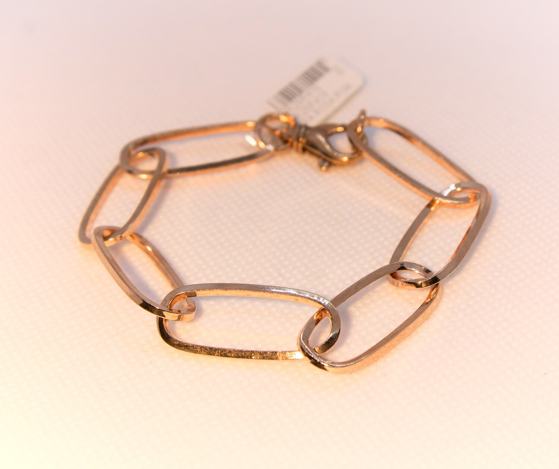Bracciale catena in argento rosè