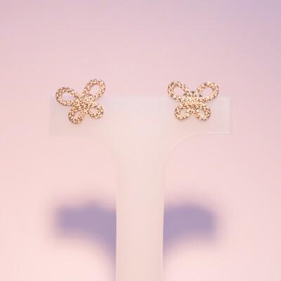 Orecchini in argento farfalle con zirconi
