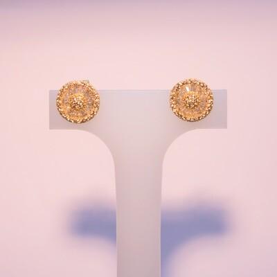 Orecchini in argento rosa soft con zirconi