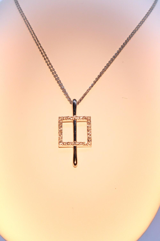 Collana in argento e zirconi