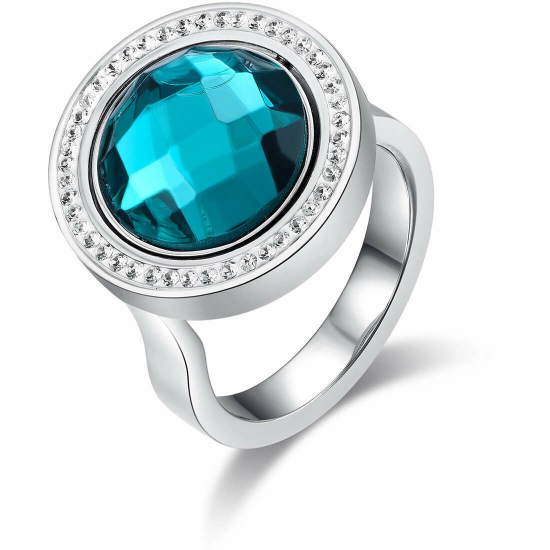 Anello Luca Barra Freedom Style Teal