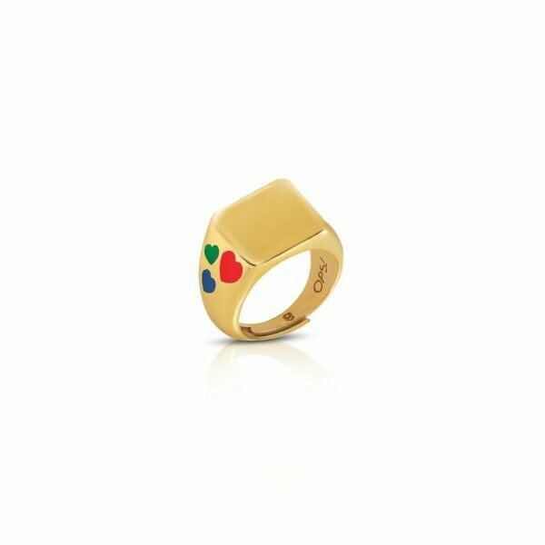 Anello Ops Icon Golden Starfool Square