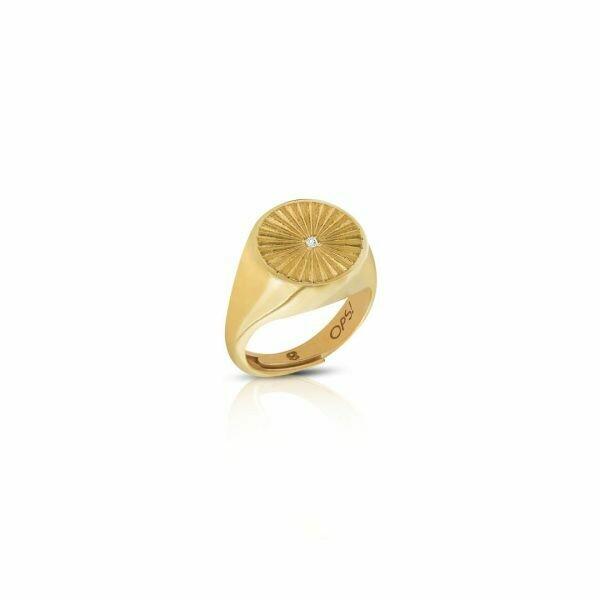 Anello Ops Icon Sunshine Gold
