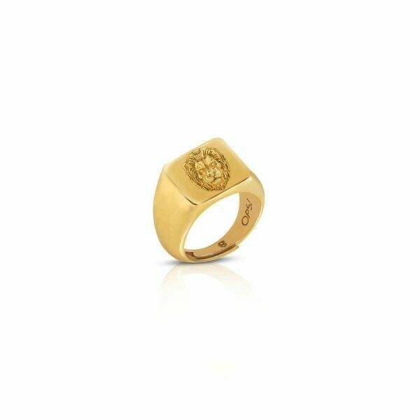 Anello Ops Icon Golden Leo