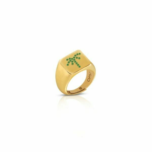 Anello Ops Icon Golden Beverly