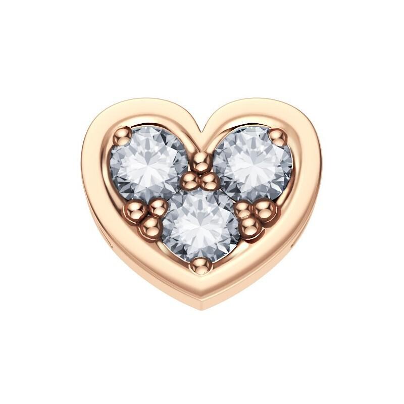 Elements Cuore Oro Rosa Diamanti
