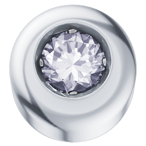 Elements Punto Luce Oro Bianco Diamante