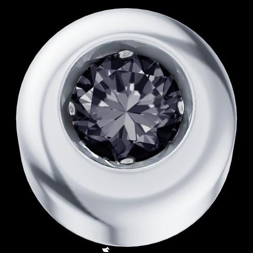 Elements Punto Luce Oro Bianco Diamante Nero
