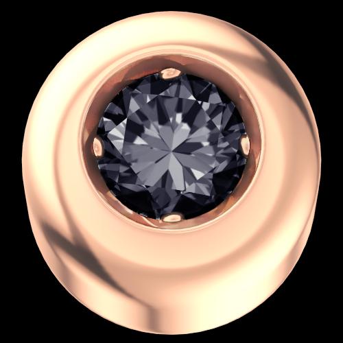 Elements Punto Luce Oro Rosa Diamante Nero