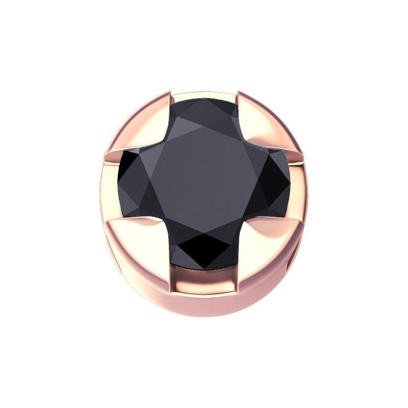 Elements Griffe Tonda Oro Rosa e Diamante Nero