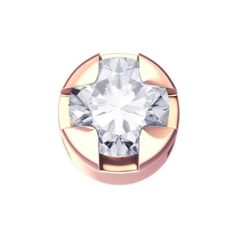 Elements Griffe Tonda Oro Rosa e Diamante