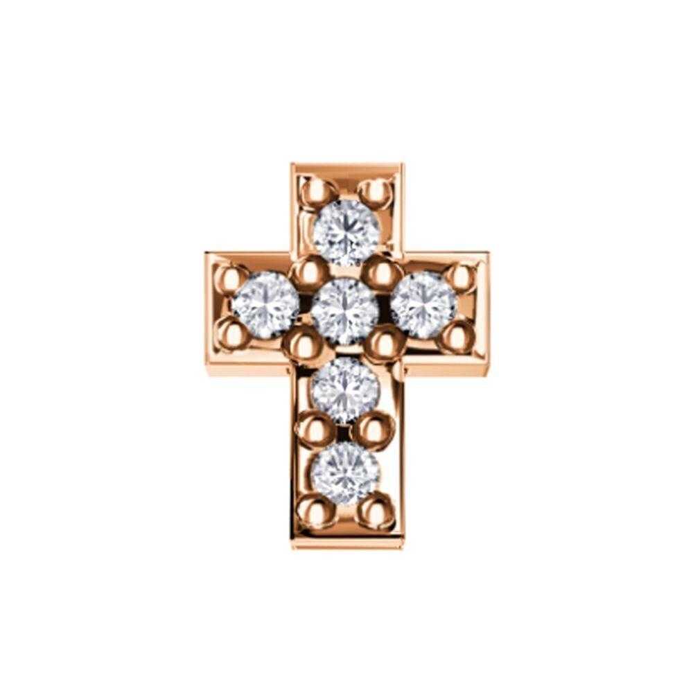 Elements Croce Oro Rosa e Diamanti