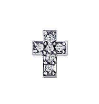 Elements Croce Oro Bianco e Diamanti