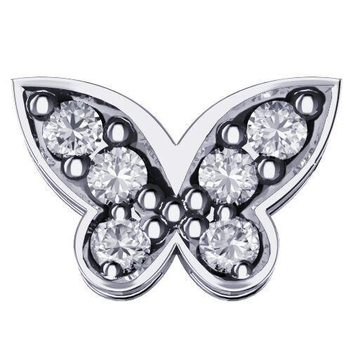 Elements Farfalla Oro Bianco Diamanti