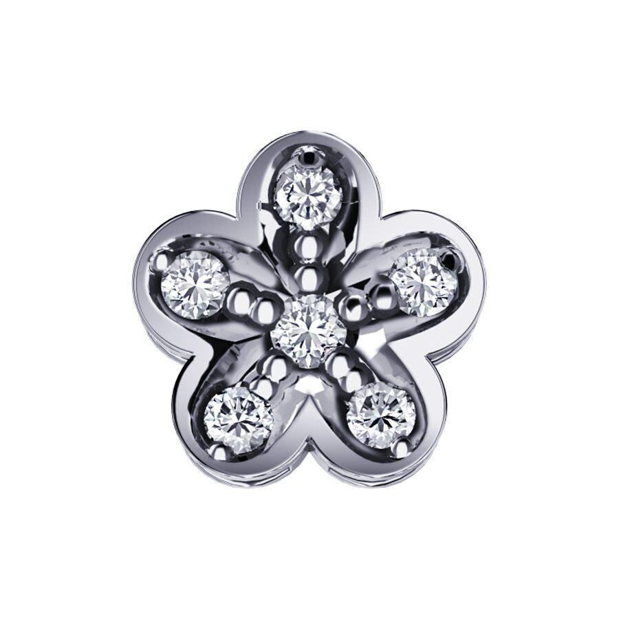 Elements Fiore Oro Bianco e Diamanti