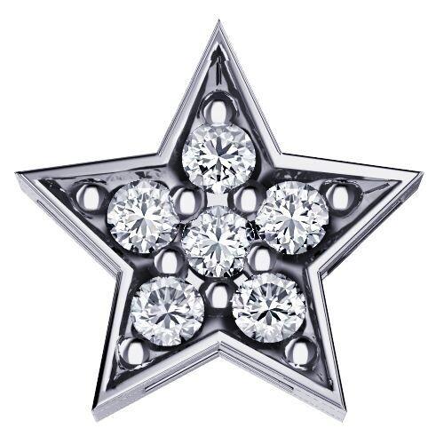 Elements Stella Oro Bianco e Diamanti