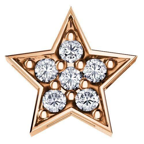 Elements Stella Oro Rosa e Diamanti