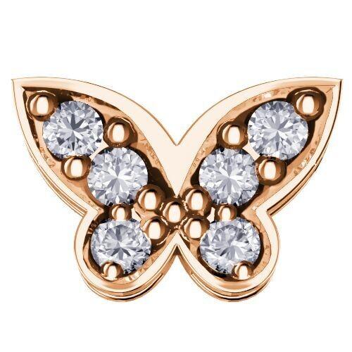 Elements Farfalla Grande Oro Rosa Diamanti