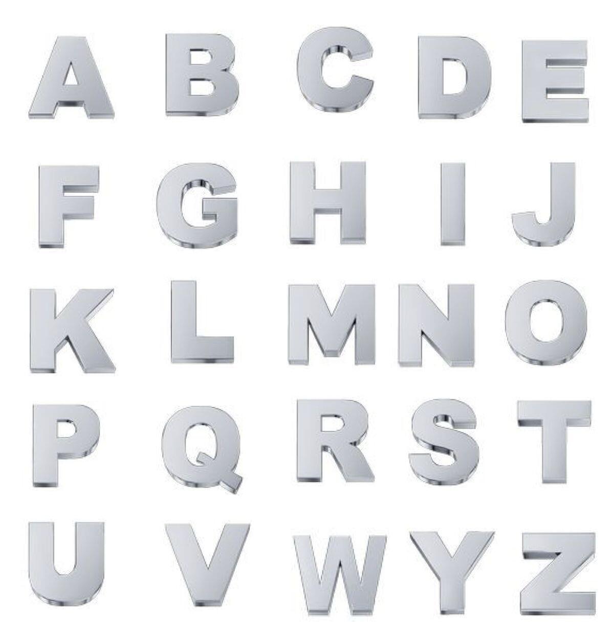 Elements Lettere Oro Bianco