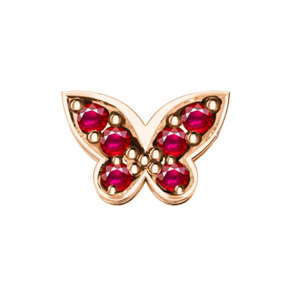 Elements Farfalla Rubini Oro Rosa