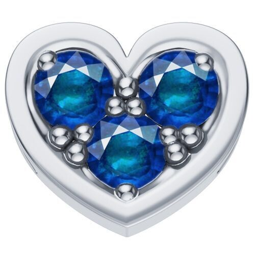 Elements Cuore Zaffiri Blu Oro Bianco