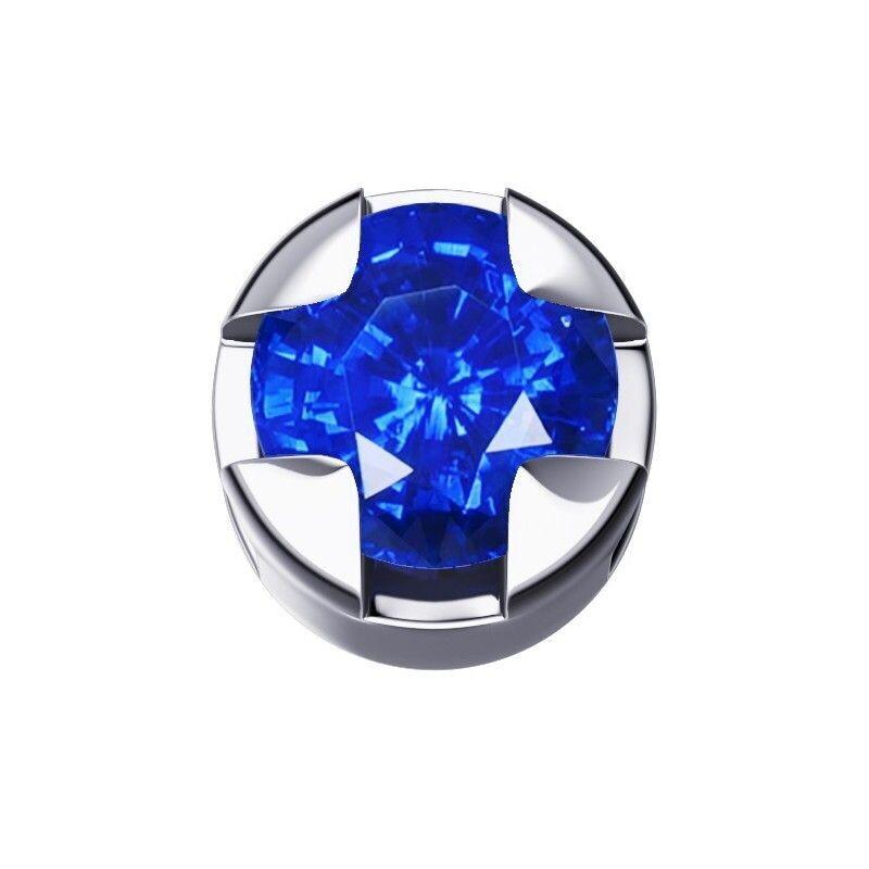 Elements Griffe Tonda Zaffiro Blu Oro Bianco