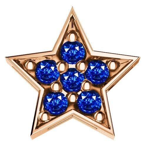 Elements Stella Zaffiri Blu Oro Rosa
