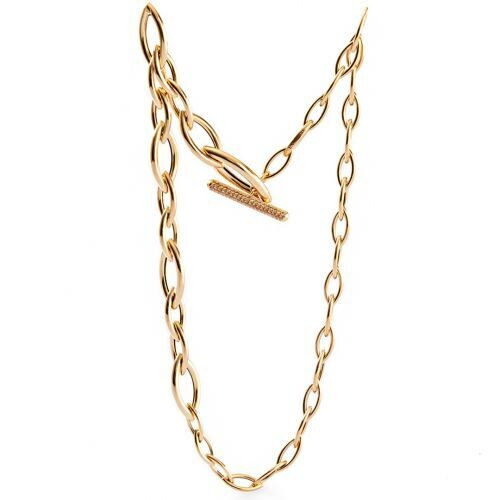 Collana UNOAERRE Premium Navette in argento dorato