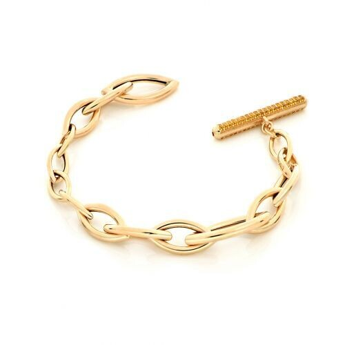 Bracciale UNOAERRE Luxury Navette in argento dorato