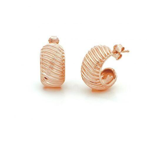Orecchini UNOAERRE Fancy Groovy in argento dorato rosa