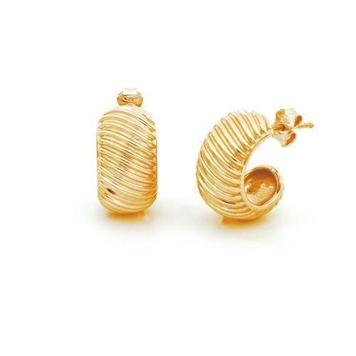 Orecchini UNOAERRE Fancy Groovy in argento dorato