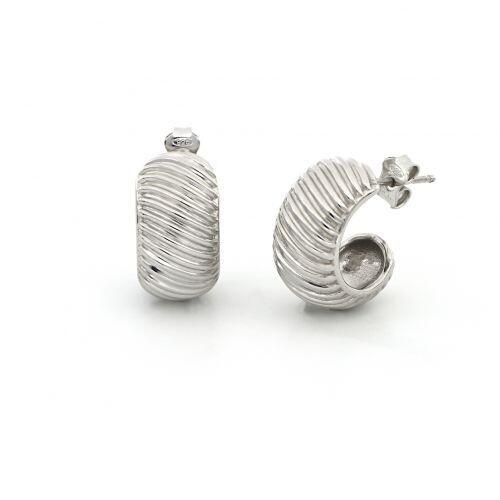 Orecchini UNOAERRE Fancy Groovy in argento bianco