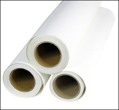 Vinilo textil de impresión y corte. Blanco satinado