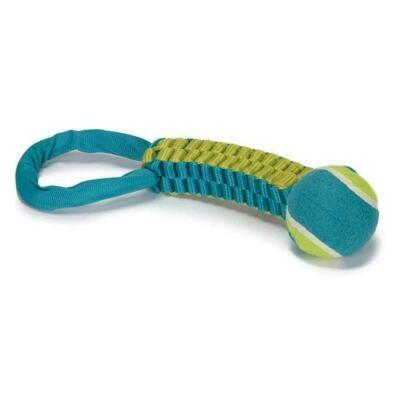 Chomper Tennis Ball Tug Dog Toy - Turquoise