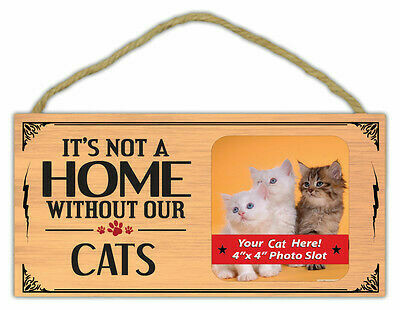 Picture Frame - It's Not A Home Without Our Cats