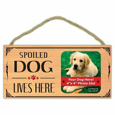Picture Frame - Spoiled Dog Lives Here