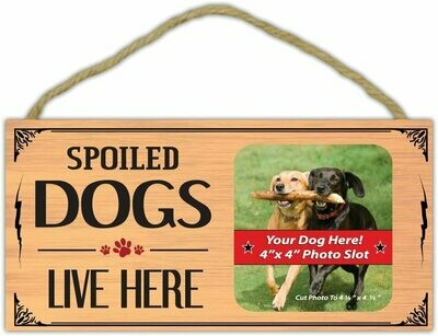 Picture Frame - Spoiled Dogs Live Here