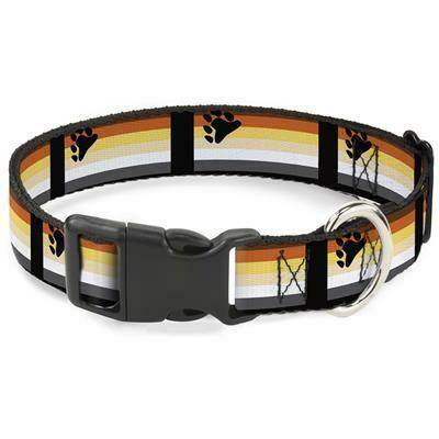 Buckle-Down Bear Pride Plastic Clip Dog Collar