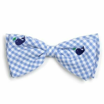 Gingham Whales Bowtie