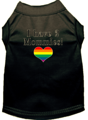I Have Two Mommies Tee - Black